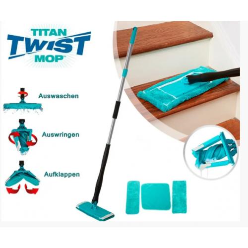 Швабра лентяйка для быстрой уборки с отжимом Titan Twist Mop