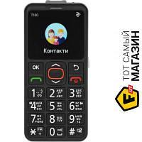2e T180 Single Sim Black мобильный телефон для пожилых людей, недорогие классический черный