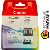 Canon PG-510/CL-511 MultiPack (2970B010) набор картриджей для PIXMA MP240, PIXMA MP250, PIXMA MP260, PIXMA MP270, PIXMA MP272, PIXMA MP280, SmartBase