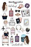 Вафельная картинка Мода и стиль | Съедобные картинки Fashion | Картинки для торта для девочек разные Формат А4, фото 4