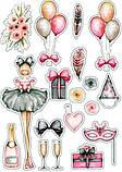 Вафельная картинка Мода и стиль | Съедобные картинки Fashion | Картинки для торта для девочек разные Формат А4, фото 7