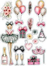 Вафельна картинка Мода і стиль | Їстівні картинки Fashion | Картинки для торта для дівчаток різні Формат А4 #6