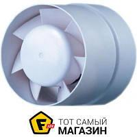 Осевой бытовой канальный вентилятор вытяжной Домовент 100 ВКО белый