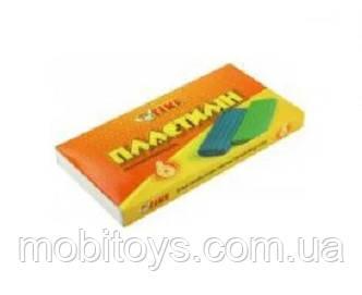 Пластилін 6 кольорів 120г пластикова упаковка TK-52104 (24/96) (ТІКІ)