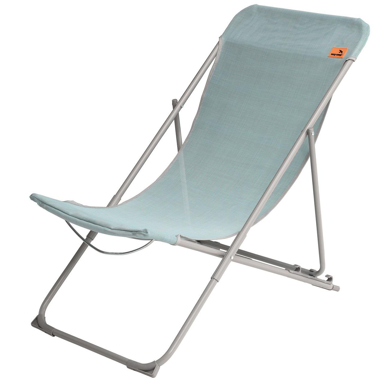 Садовое кресло шезлонг Easy Camp Reef Aqua Blue Стул раскладной для дачи