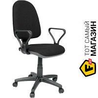 Офисное кресло со спинкой ткань Примтекс плюс Prestige GTP C-11, подлокотник пластиковый черный