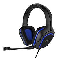Игровые наушники iPega PG-R006 с регулируемым микрофоном (Черно-синий)