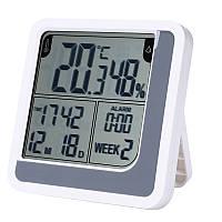 Цифровой термо-гигрометр LJ-390S (термометр: -10 °C~+50 °C; гигрометр: 10%-99%), часы, будильник