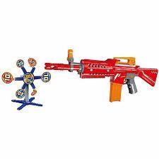 Автомат - бластер с мягкими снарядами,   мишенью, 20 снарядов Junfa 7031