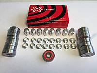Набор хромированных подшипников ABEC-7 с втулками для роликовых коньков, скейтов и самокатов, фото 1