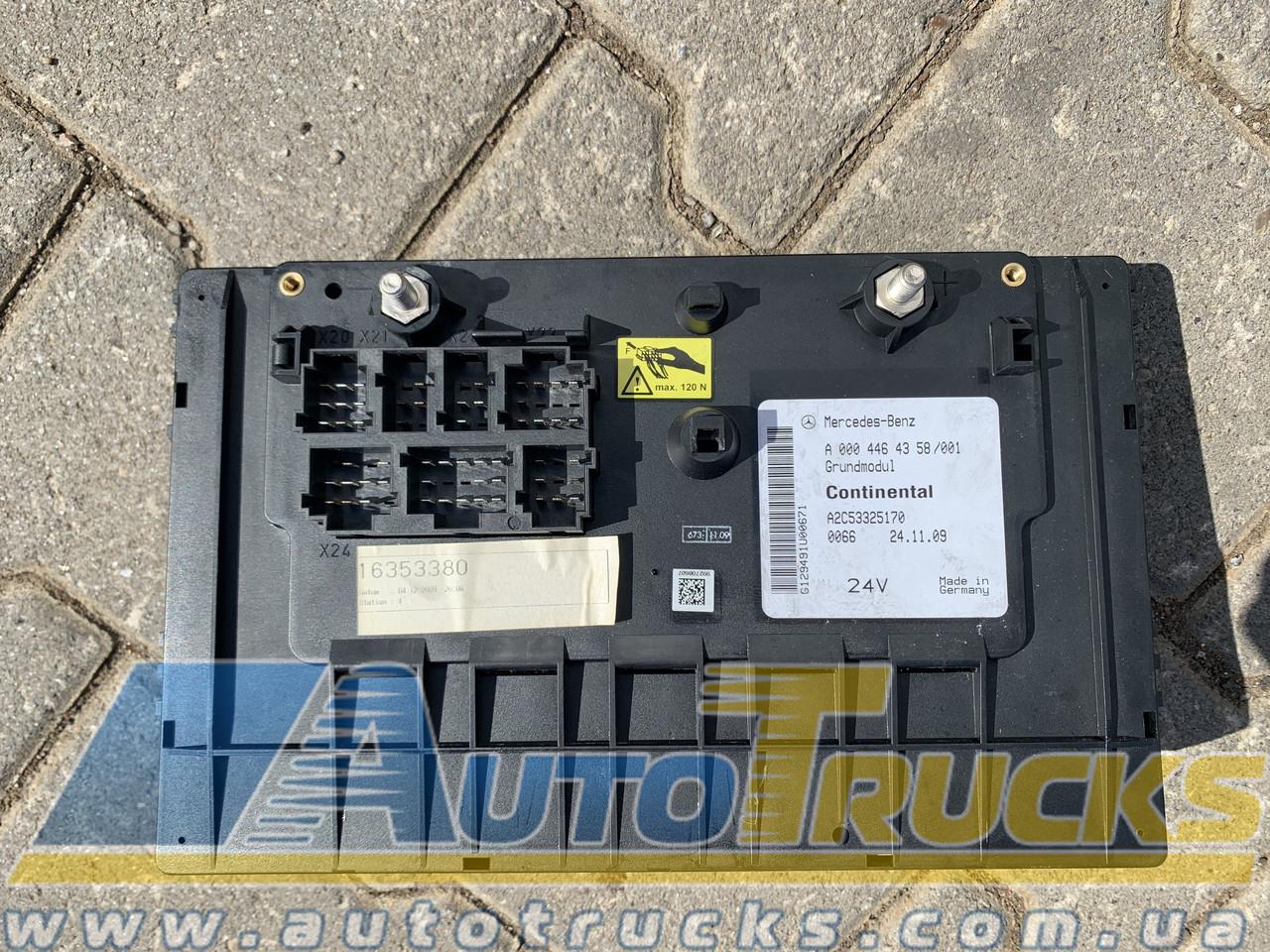 Блок реле предохранителей GRUNDMODUL Б/у для Mercedes Actros (0004464358)
