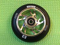 Колесо алюминиевое Explore 100 мм для трюкового самоката с подшипниками ABEC-9 серебристое, фото 1