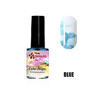 Акварель Color Drops Nails Molekula Blue, 6ml
