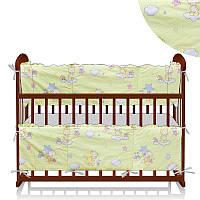 Защита в кроватку Мишки, звезды маленькие - Желтый ТМ Беби-Текс SKL11-218889