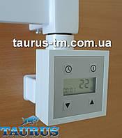 ЭлектроТЭН белый KTX3 MS c маскировкой: LCD экран +регулятор +таймер до 24ч. Польша. Квадратный