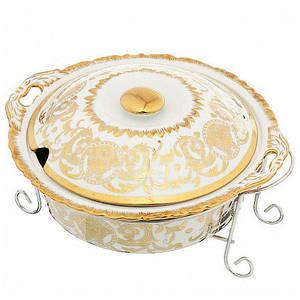 Мармит керамический 3,2л с крышкой, поварской ложкой, подставкой, 2шт свечи, Bohmann Madonna MA 1141