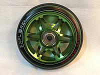 Колесо алюминиевое Explore 110 мм для трюкового самоката с подшипниками ABEC-7 зеленое, фото 1