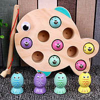 Деревянная игрушка Игра рыбалка «Рыбка», развивающие товары для детей.