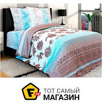 Комплект постельного белья полуторный 153x215 см хлопок коричневый Блакит Агат полуторный (4535-01/3319)