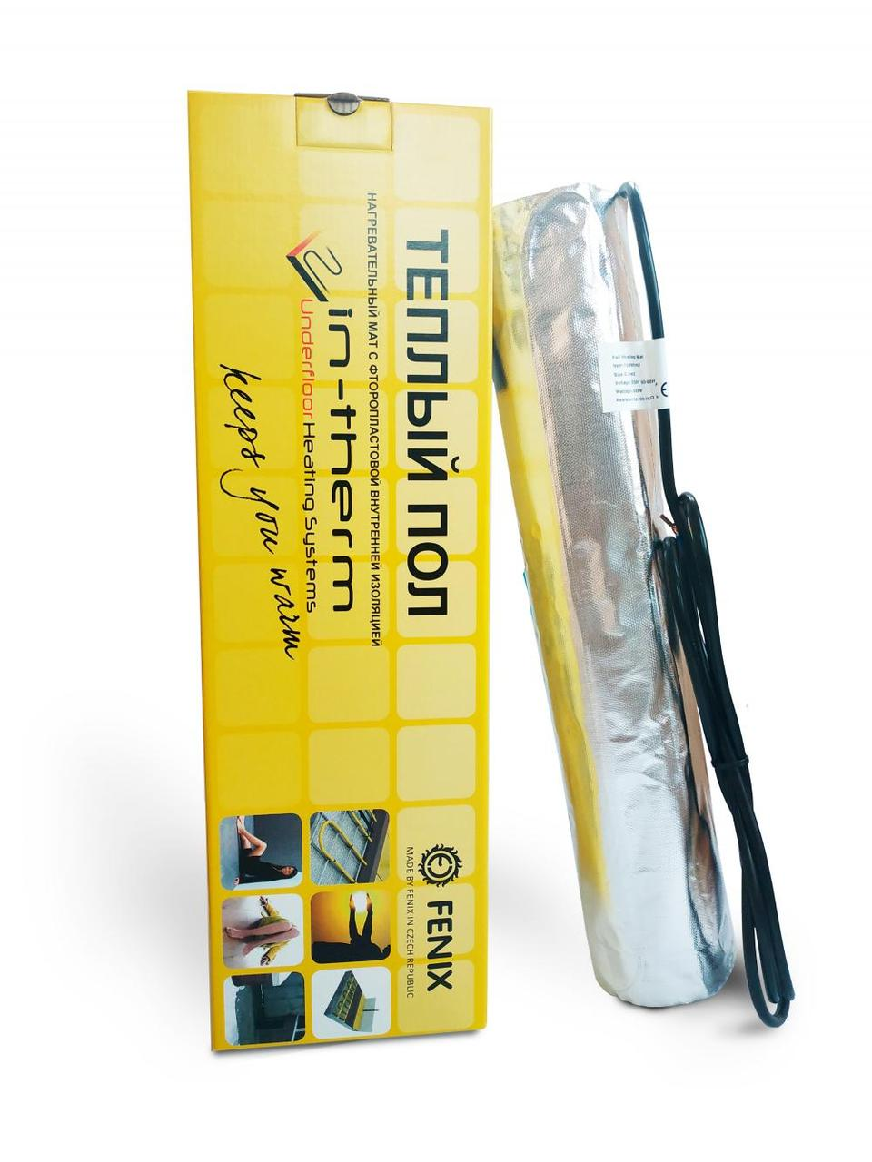 Тонкий теплый пол IN-THERM 11 м²  / 1650 Вт / электрический алюминиевый мат под ламинат