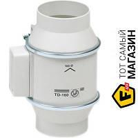Осевой бытовой канальный вентилятор вытяжной Soler & Palau TD-160/100 N Silent белый
