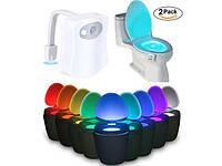 Подсветка для унитаза с датчиком движения toilet light bowl, Светодиодная подсветка унитаза, Для унітазу,