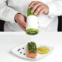 Измельчитель зелени Herb Grinder, Терка мельница для зелени, Ручной блендер для трав, Подрібнювач зелені, Для