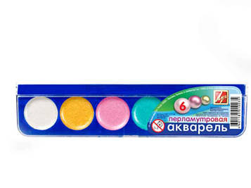 Краски акварельные перламутровые Луч 6цв 1117-08