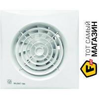 Осевой бытовой накладной (настенный/потолочный) вентилятор вытяжной Soler & Palau Silent-100 CRZ белый