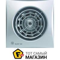 Осевой бытовой накладной (настенный/потолочный) вентилятор вытяжной Soler & Palau Silent-200 CRZ Silver белый