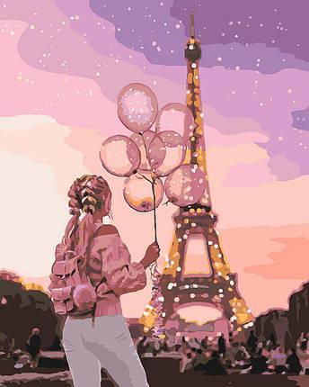 KH4609 Картина-раскраска Город романтики, Без коробки, фото 2