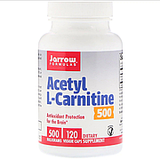 Ацетил L-Карнитин, Acetyl L-Carnitine, Jarrow Formulas, 500 мг, 120 капсул