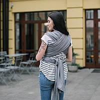 Слинг - шарф для ребенка с зауженными концами Love & Carry, графит