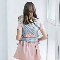 Слинг - шарф для ребенка с зауженными концами Love & Carry, серый