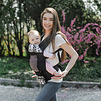 Эрго - рюкзак детский с регулируемым сиденьем Дейзи Love & Carry, черный