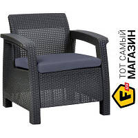 Кресло пластик,полипропилен Keter Bahamas Duo серый (17205921)