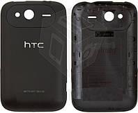 Задняя панель корпуса для HTC Wildfire S A510e G13, черный, оригинал