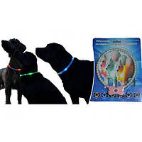 Светящийся ошейник для собак в виде жемчужин Pet's Simulated Pearl Gleamy Necklace с цветной подсветкой