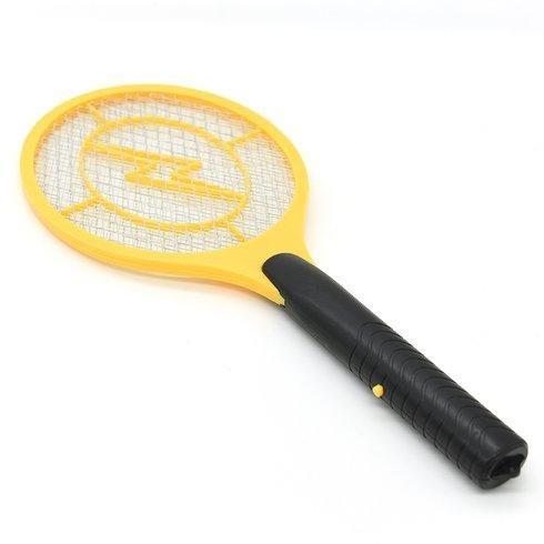 Мухобойка электрическая в виде рокетки Bug catcher на аккумуляторе желтая