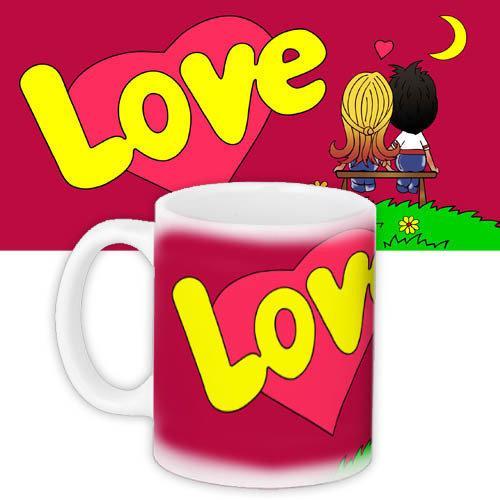 Кружка HMD з принтом Love is... Червона (88-8723332)
