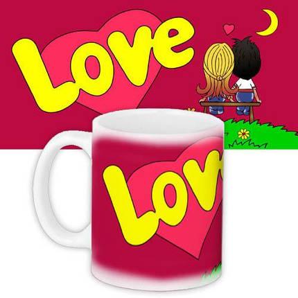 Кружка HMD з принтом Love is... Червона (88-8723332), фото 2