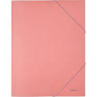 Папка пластиковая А4 AXENT на резинках Pastelini розовая