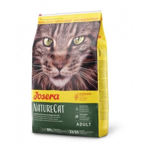 Сухой корм Josera Adult NatureCat для молодых кошек от 6 месяцев, с бататом, рисом и травами, 4,25 кг