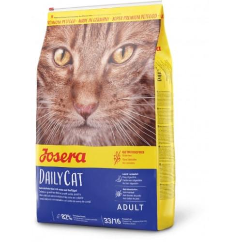 Сухой корм Josera Adult DailyCat беззерновий для взрослых кошек, с птицей, бататом и травами, 10 кг