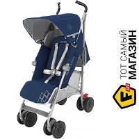 Прогулочная коляска- трость одноместная Maclaren Techno XT Medieval Blue/Silver (WM1Y070042) темно-синий