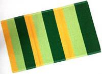 Полотенце лицевое махровое Зеленый с желтым 70*40