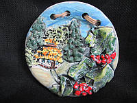 Тарелка декоративная керамическая д-14 см (55/45)