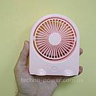 Вентилятор портативный DianDi Kid настольный. Вентилятор аккумуляторный 2 скорости, фото 4