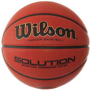 М'яч баскетбольний Wilson Solution FIBA Size 7 SS19 (9031), фото 2