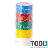 Лента изоляционная 0,15 мм x 17 мм x 15 м цветная INTERTOOL IT-0019